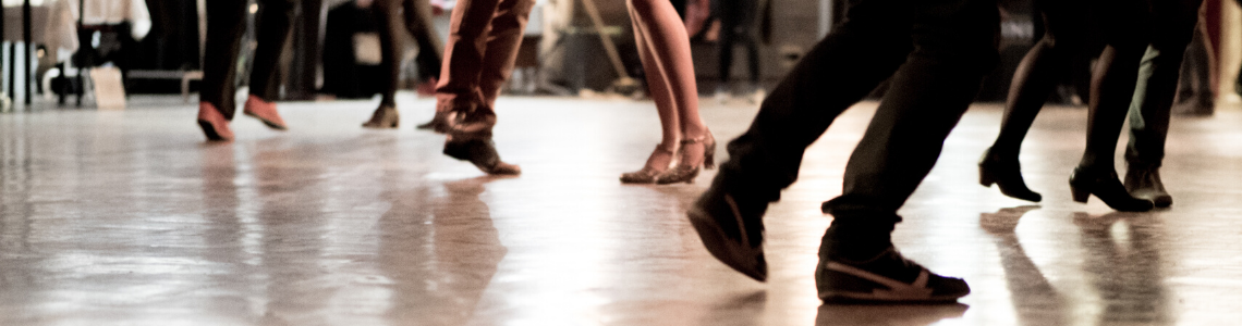 Feet and legs of people dancing